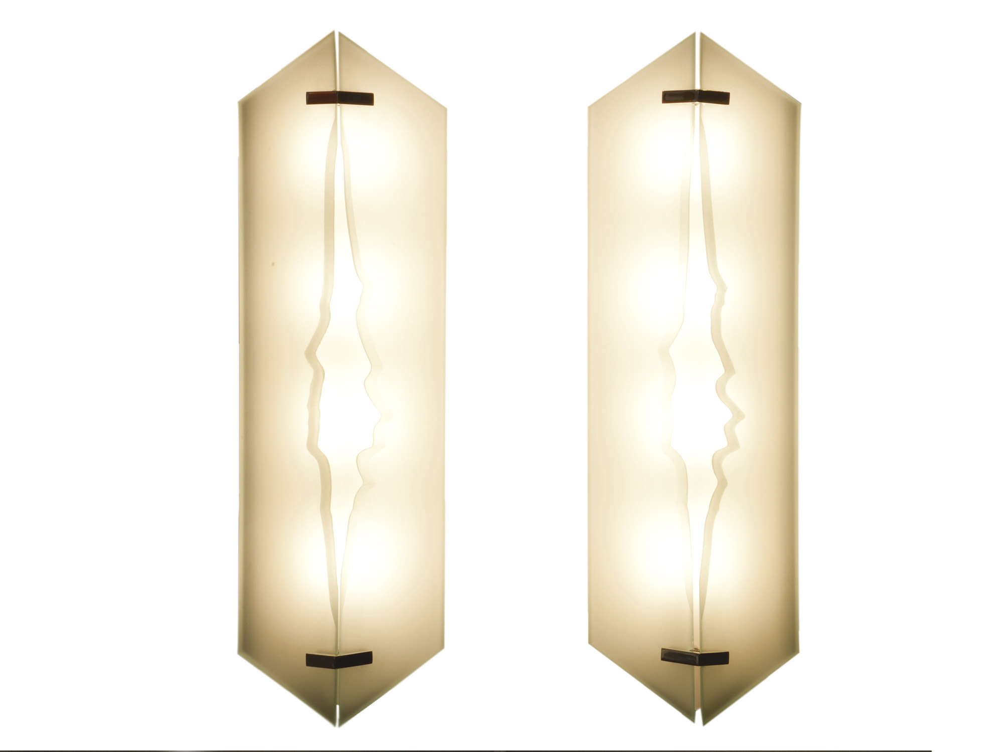 Fontana Arte - 3 pairs of wall lights | Paul Bert Serpette