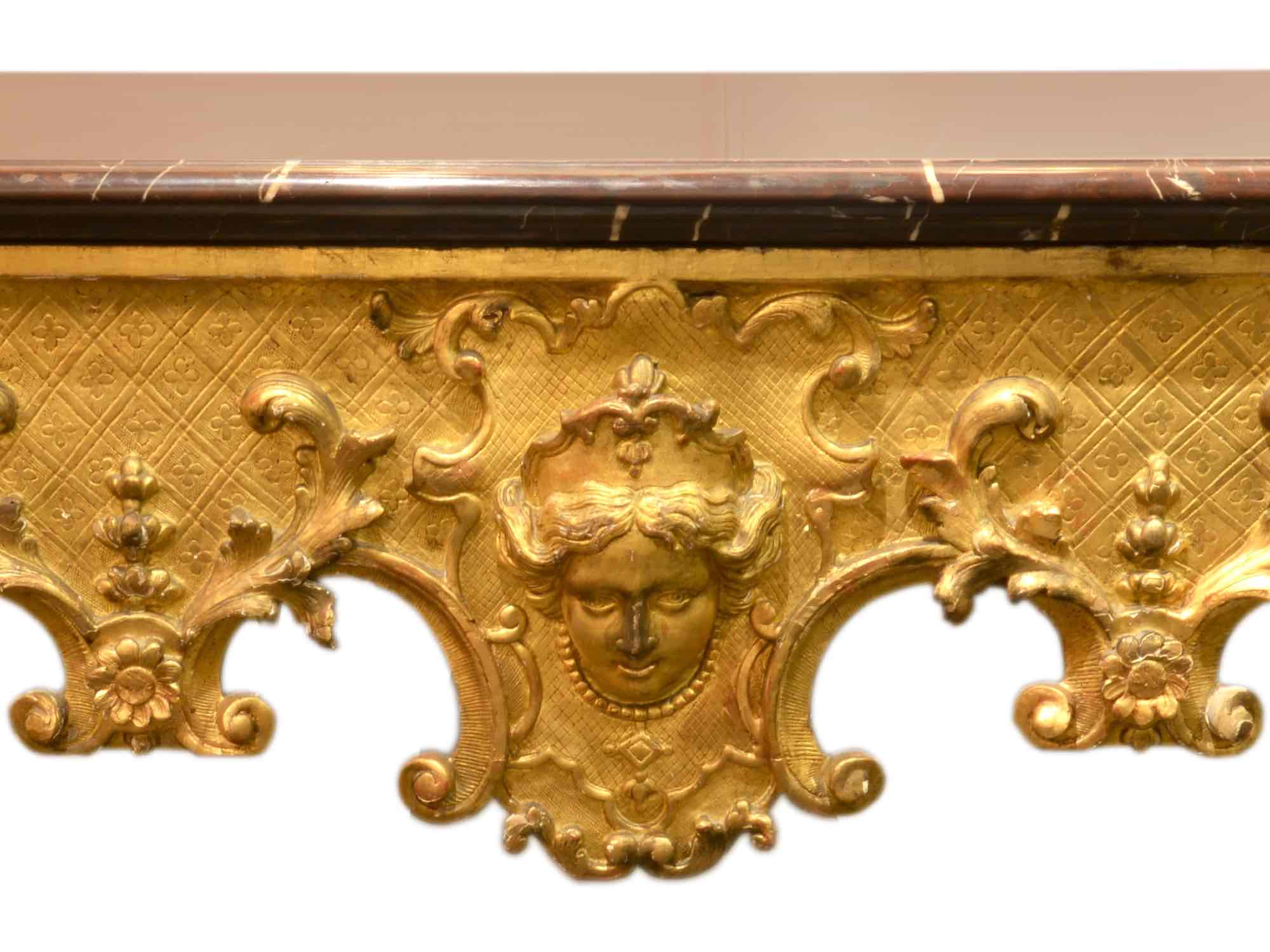 Louis XV Console in gilded wood and marble | Paul Bert Serpette