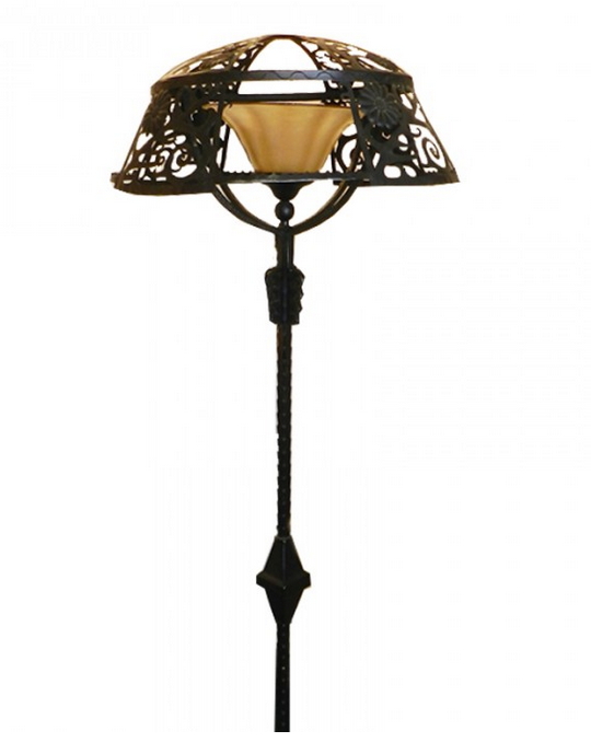 lampadaire en fer forg art d co fin 1920 paul bert serpette. Black Bedroom Furniture Sets. Home Design Ideas