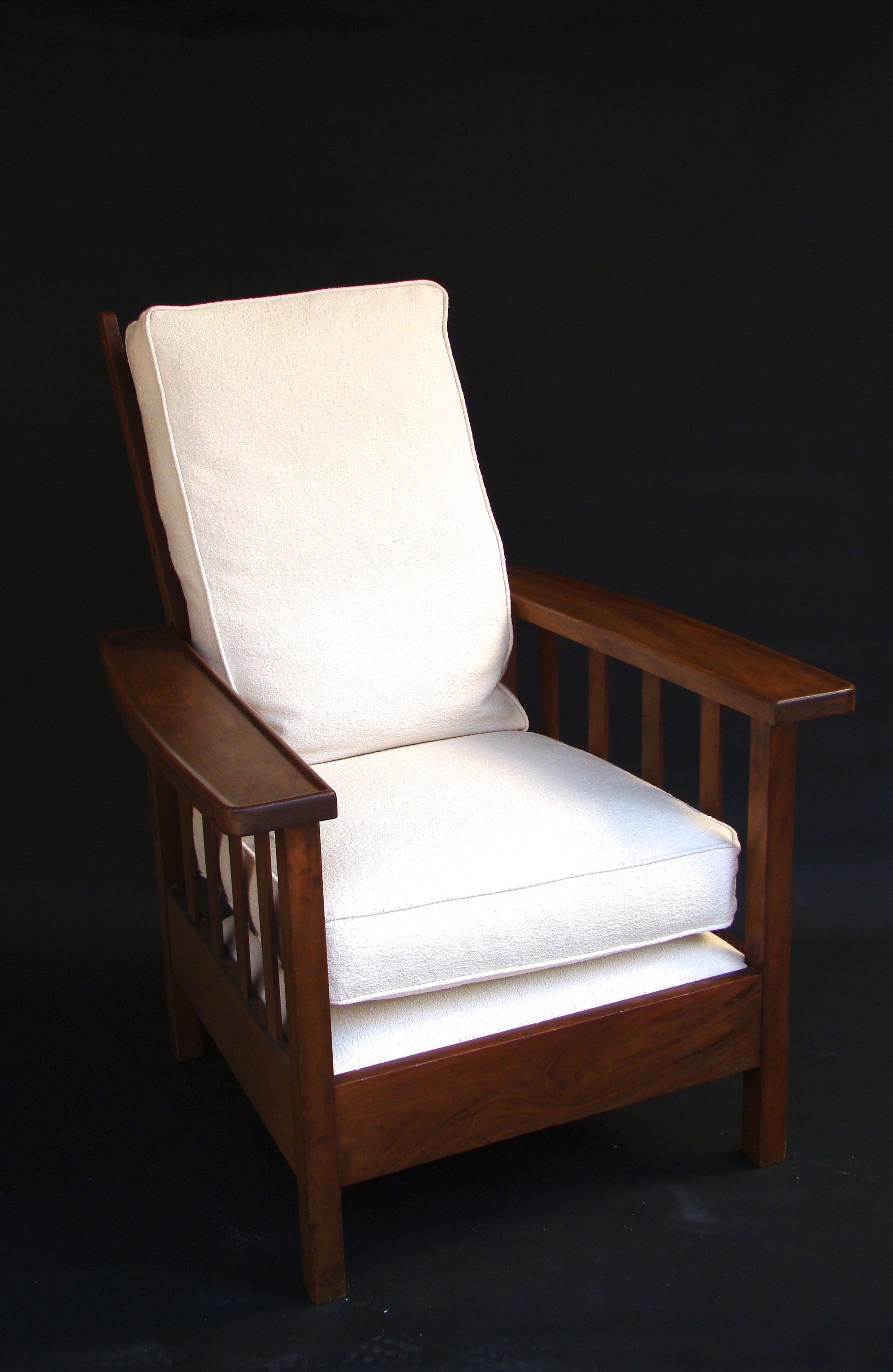 chaise longue fauteuil arts and crafts en acajou de william morris circa 1930 - Fauteuil Chaise Longue