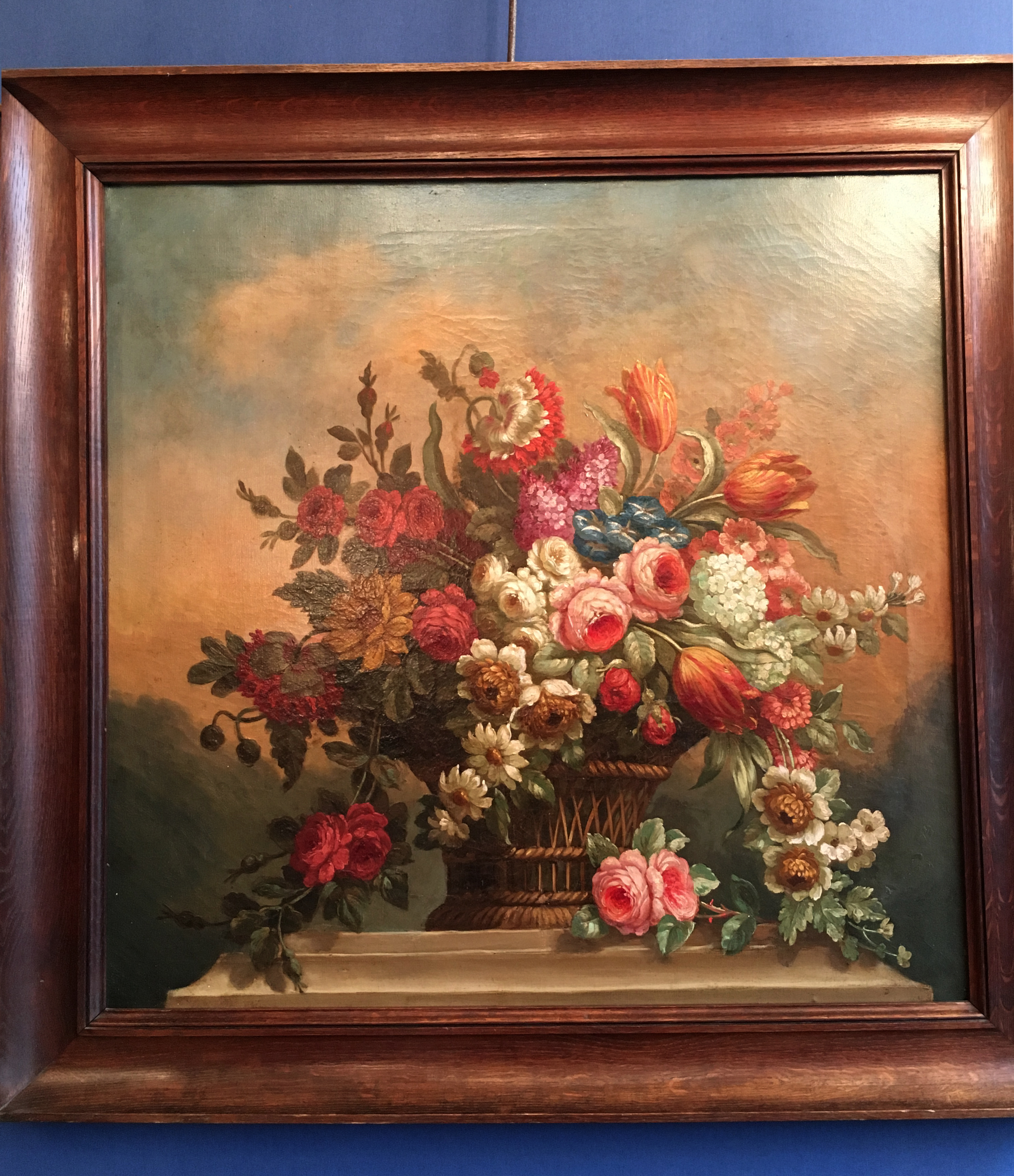 Painting bouquet of flowers paul bert serpette table bouquet of flowers izmirmasajfo
