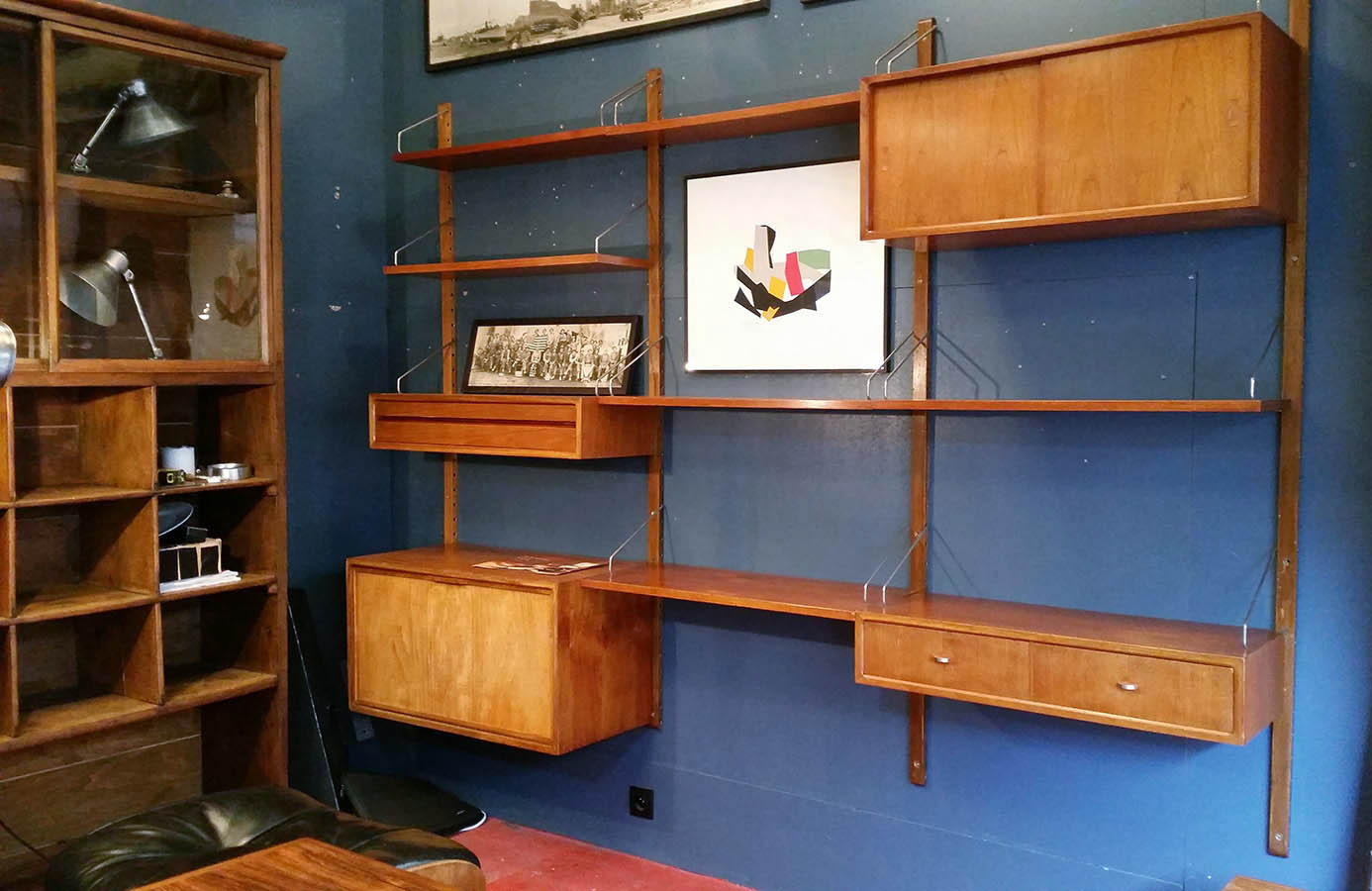 Adjustable Bookcase By Poul Cadovius For Cado Circa 1955 Denmark  # Bibliotheque Fer Forge
