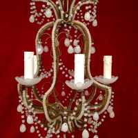 lustre chandelier opaline blanc white light