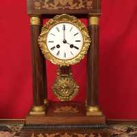 PENDULE CLOCK wood restauration portique