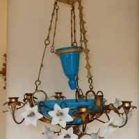 1880 'Chandelier with Bindweed with Blue Opaline