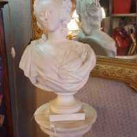 Marie Antoinette Bust Nineteenth Biscuit Signed Lecomte