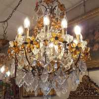 Chandelier 12 lights crystal twentieth