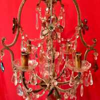 pair chandelier crystal flowers flowers