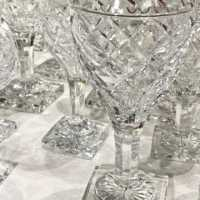 Service 48 pieces, cut crystal, Val Saint-Lambert, c.1940-1950