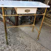 Brass toilet table
