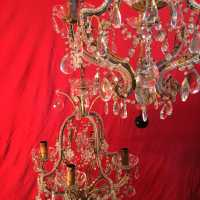 crystal chandelier pair