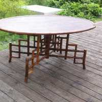 Table ovale en bambou par la Manufacture Perret & Vibert, France, vers 1900