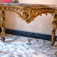 Console – Table de milieu Italie XIXème siècle   Console - middle of XIX century Italy Table