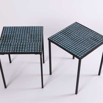 Pair of side tables, Roger Capron, circa 1950