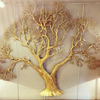 70s brass tree of life