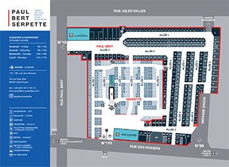 Map of Paul Bert Serpette market