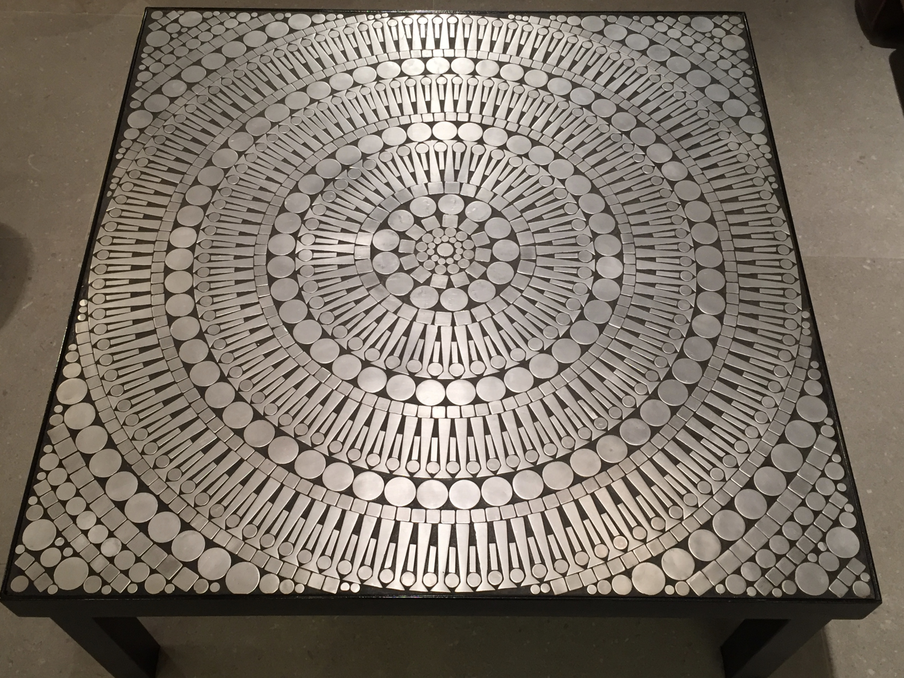 Coffee Table Mosaic Circa 1970 Paul Bert Serpette