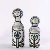 Glazed ceramic bottles, Roger Capron, c. 1960