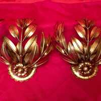 pair pair applies light fixture golden