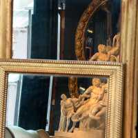 Mirrors of French origin, frame with gold leaf, nineteenth