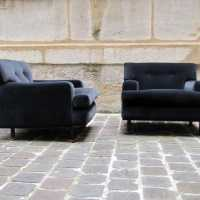 Zanuso-chairs-square-arflex-velvet-gray