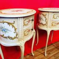 pair of Italian painted wood nightstands