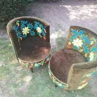 Flower armchairs