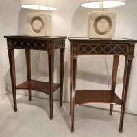 Pair of Maison Mailfert nightstands. Night stands