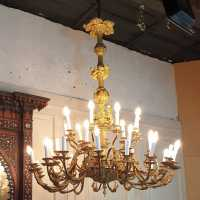 Sicilian chandelier in foil 19th century