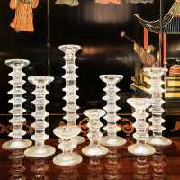 Set of 8 glass candle holders