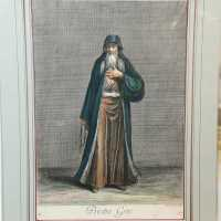 Very beautiful engraving representing a Greek priest