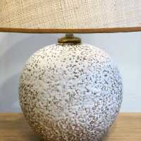 CERAMIC TABLE LAMP 1950, NEW STRAW SHADE