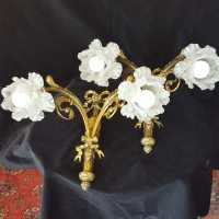 Pair of gilt bronze sconces XIXth