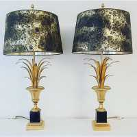 pair wall lamp golden wood wood gold iron pair light fixture