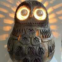 large ceramic owl by Huguette bessone