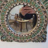 Ceramic Mirror by Les Argonautes, Vallauris