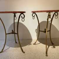 Pair of pedestal table