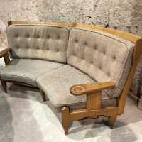 Guillerme and Chambron oak sofa