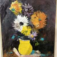 Painting bouquet of flowers