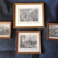 4 engravings of Napoleon