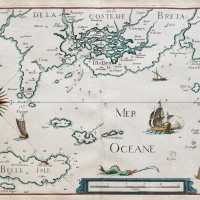 Old marine map of Brittany