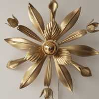 Flower wall lamp