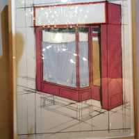 Lithographie Christo, The Pink Store Front, 1980