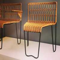 Chairs and armchairs by Raoul Guys, ca 1950.