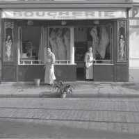 Boucherie parisienne, Louis Stettner, Paris, ca 1950
