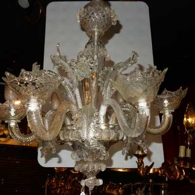 1900/1920 'Crystal Chandelier Murano 6 Branches