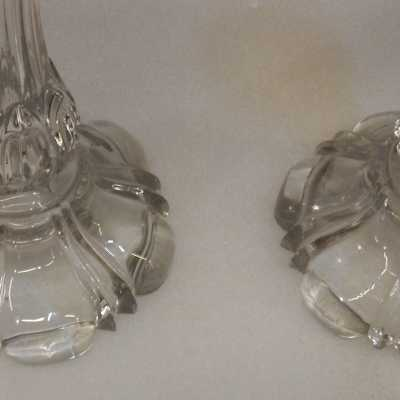 1950 'Baccarat Pair of Candlesticks for Candlesticks