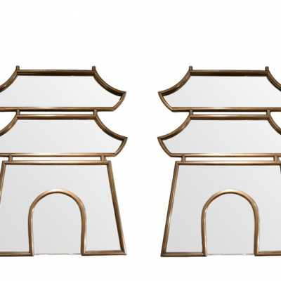 Pair of Pagode mirrors, Maison Jansen