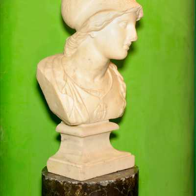 Bust of Minerva, marble, early nineteenth