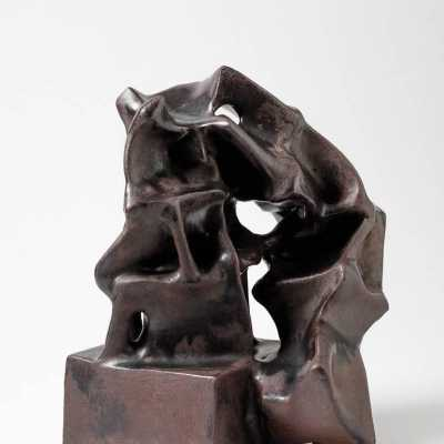 Ceramic sculpture by Michel Lanos, circa 1980-1990